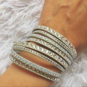 White Swarovski Slake Bracelet